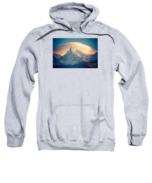 Annapurna Sunrise Himalayas Mountains Sweatshirt