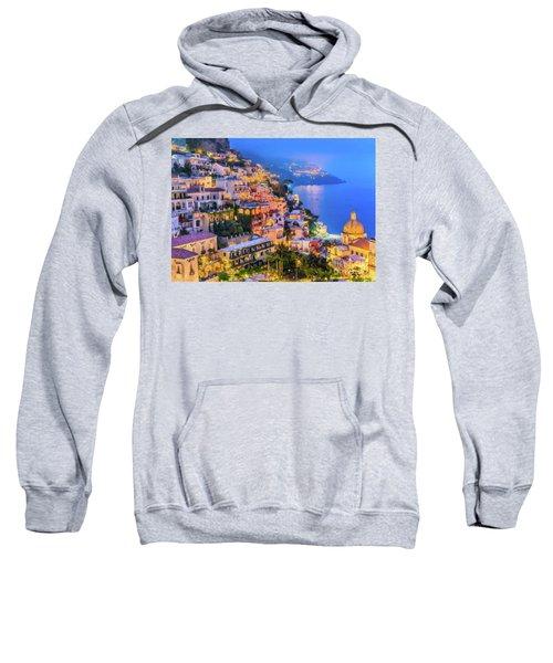 Another Glowing Evening In Positano Sweatshirt