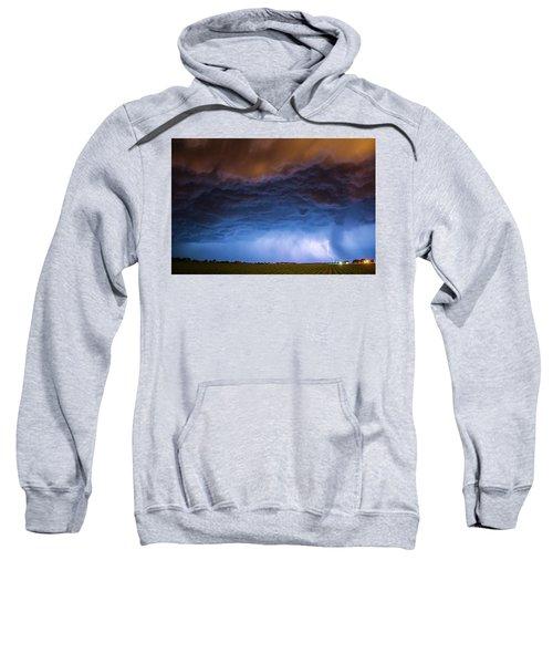 Another Impressive Nebraska Night Thunderstorm 008/ Sweatshirt
