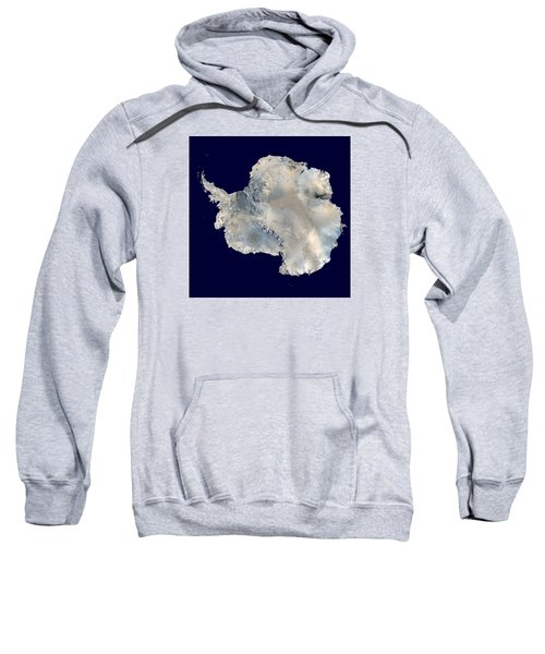 Antarctica From Blue Marble Sweatshirt