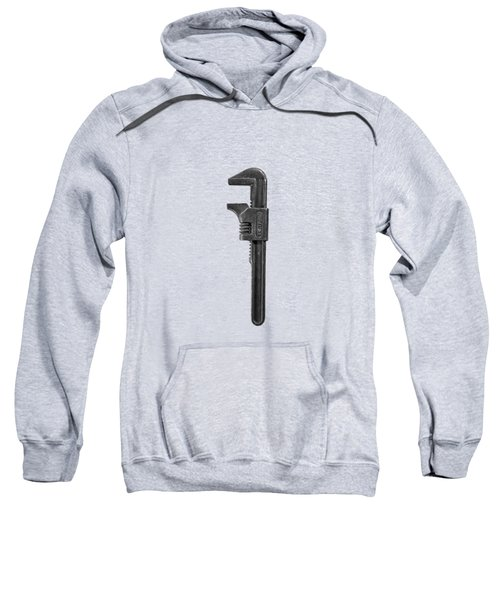 Antique Adjustable Wrench Front In Bw Sweatshirt