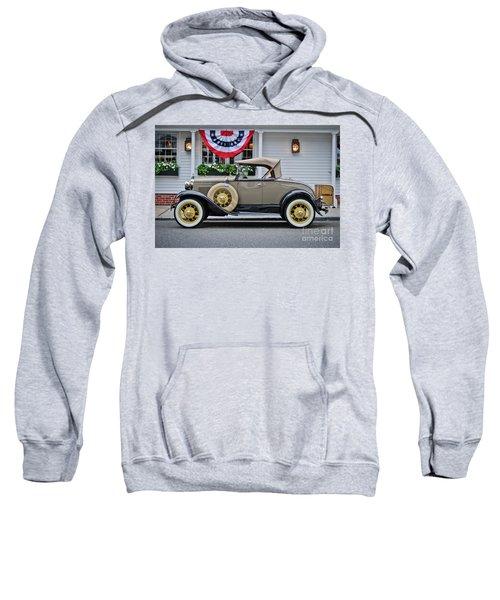 Antique Ford Model A Under Patriotic Bunting Sweatshirt