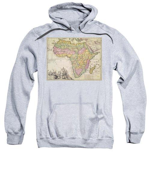 Antique Map Of Africa Sweatshirt by Pieter Schenk