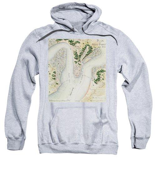 Antique Map Of West Point  Virginia Sweatshirt
