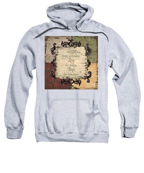 Antique Patchwork Inspirational Sweatshirt