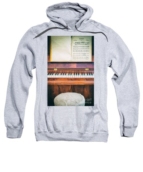 Sweatshirt featuring the photograph Antique Piano And Music Sheet by Silvia Ganora