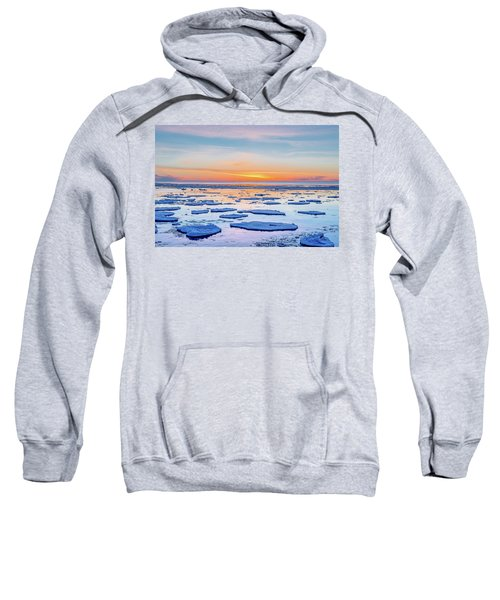 April Sunset Over Lake Superior Sweatshirt