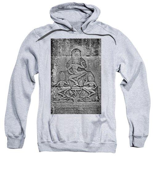 Sweatshirt featuring the photograph Apsaras 3, Angkor, 2014 by Hitendra SINKAR
