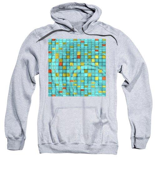 Aqua Blue Art - Block Party 2 - Sharon Cummings Sweatshirt