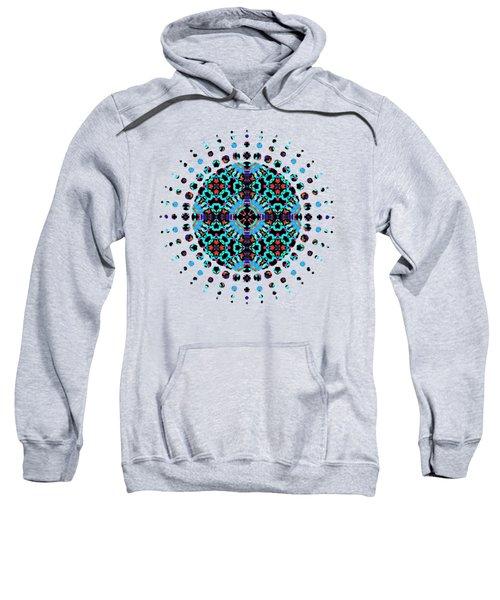 Aqua Geometric Mandala Sweatshirt