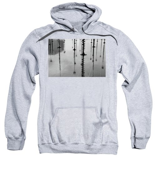 Arbres Lumineux In The Rain Paris  Sweatshirt