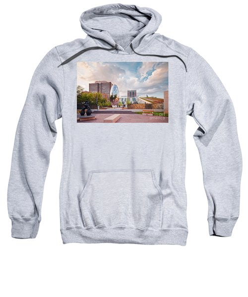 Architectural Photograph Of Anish Kapoor Cloud Column At The Glassell School Of Art - Mfa Houston  Sweatshirt
