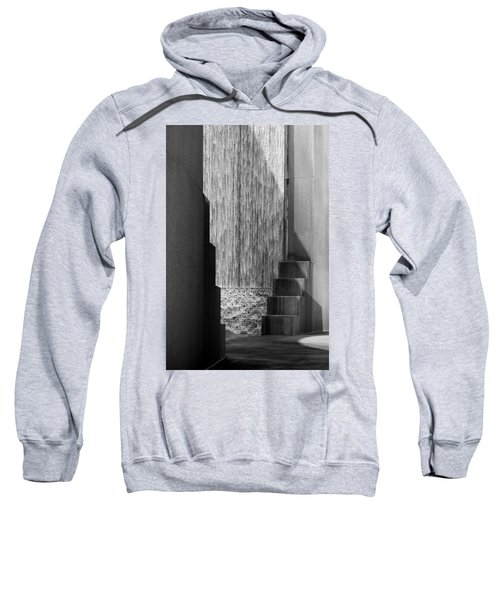 Architectural Waterfall In Black And White Sweatshirt