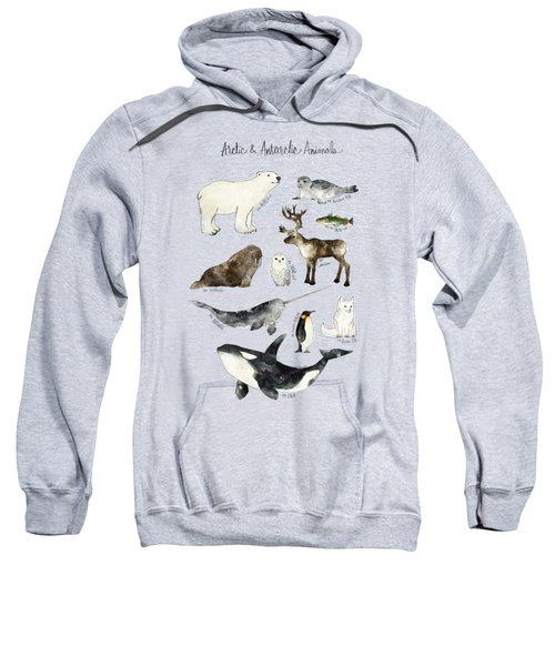 Arctic And Antarctic Animals Sweatshirt by Amy Hamilton