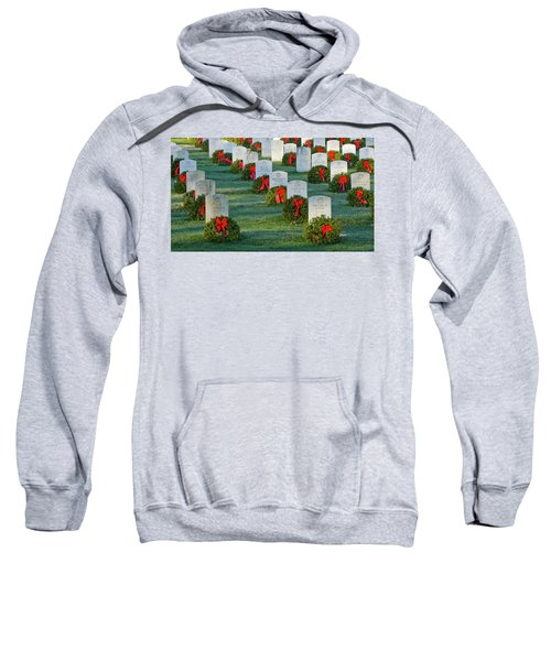 Arlington National Cemetery At Christmas Sweatshirt