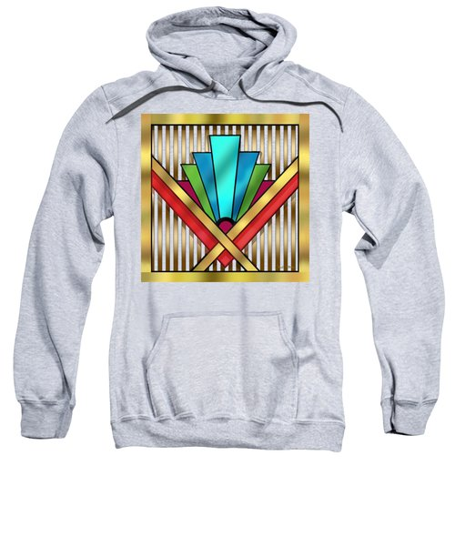 Art Deco 15 Transparent Sweatshirt