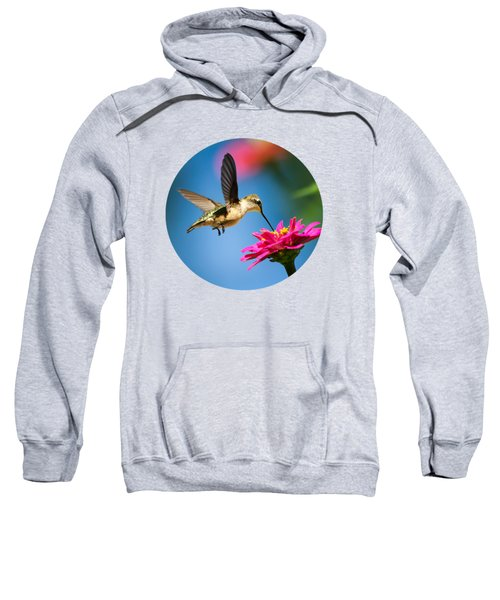 Art Of Hummingbird Flight Sweatshirt by Christina Rollo