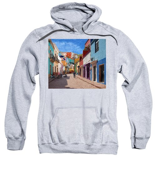 Art Students Drawing A Street In Guanajuato Sweatshirt