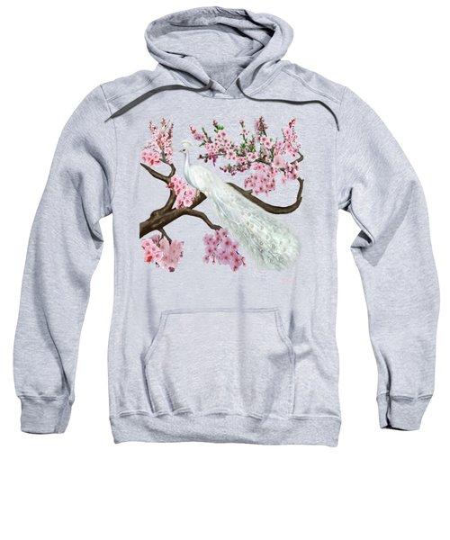 Cherry Blossom Peacock Sweatshirt by Glenn Holbrook