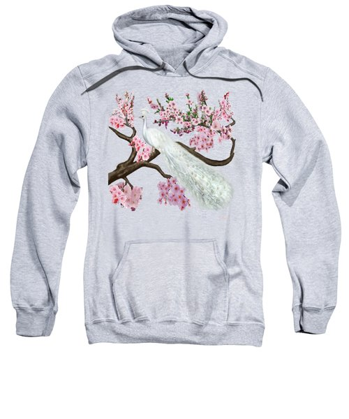 Cherry Blossom Peacock Sweatshirt