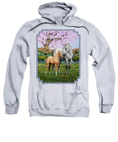 Spring's Gift - Mare And Foal Sweatshirt