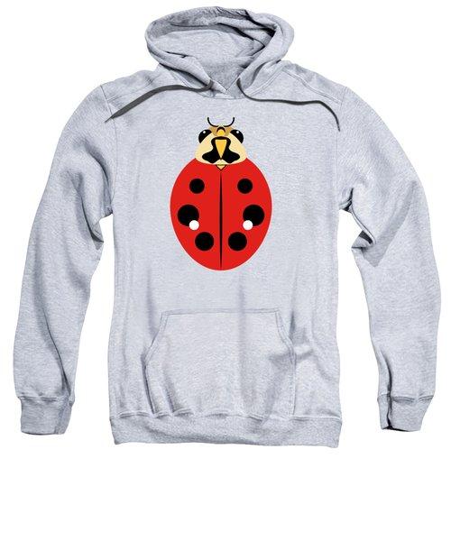 Ladybug Graphic Red Sweatshirt