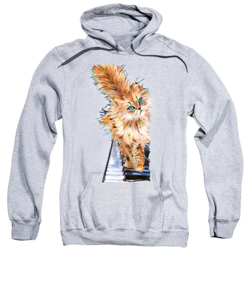 Cat Orange Sweatshirt