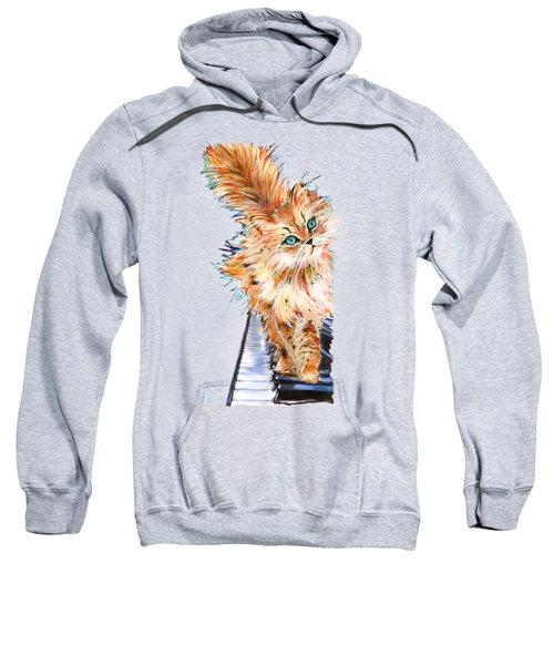 Cat Orange Sweatshirt