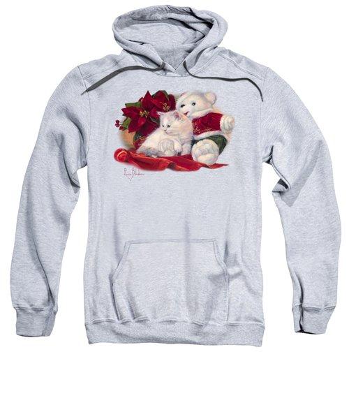 Christmas Kitten Sweatshirt by Lucie Bilodeau