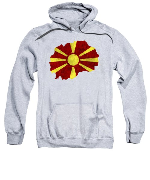 Macedonia Map Art With Flag Design Sweatshirt