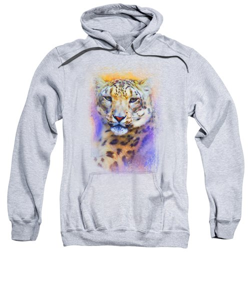 Colorful Expressions Snow Leopard Sweatshirt by Jai Johnson