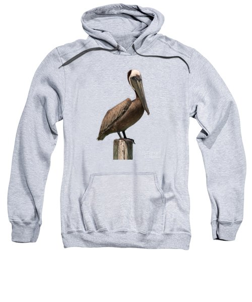 Pelican Perched On A Piling Sweatshirt by John Harmon