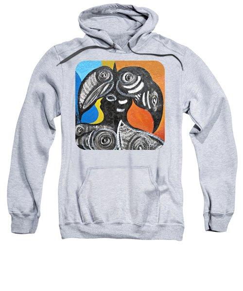 Two Toucans Sweatshirt by Ethna Gillespie
