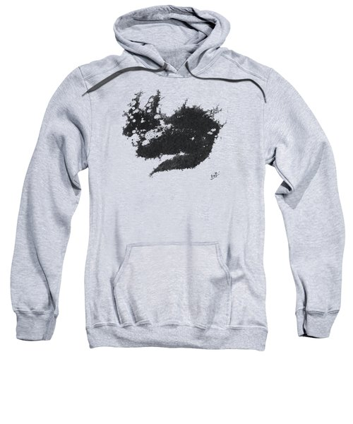 Sweatshirt featuring the painting Electricat by Marc Philippe Joly