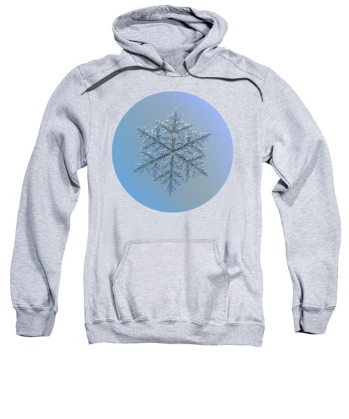 Snowflake Photo - Majestic Crystal Sweatshirt
