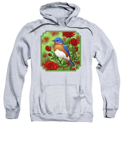 New York State Bluebird And Rose Sweatshirt