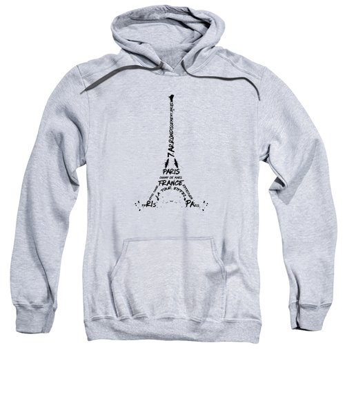 Digital Art Eiffel Tower Pattern Sweatshirt by Melanie Viola