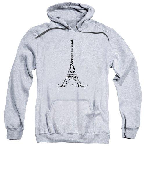 Digital Art Eiffel Tower Pattern Sweatshirt