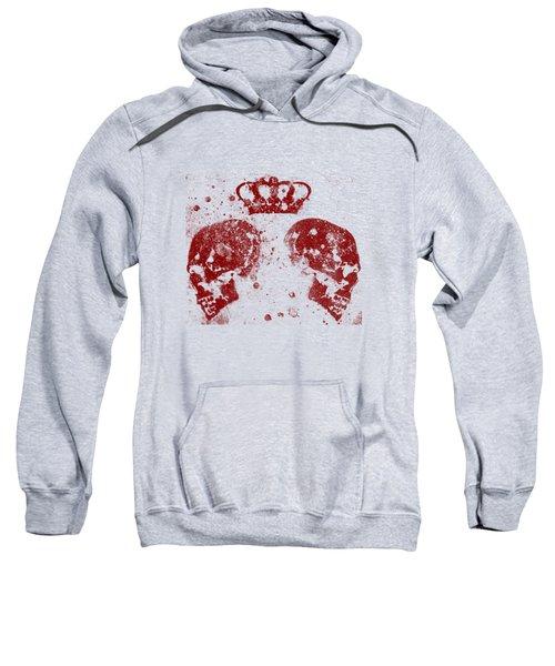 Blood Queendom - Spray Paint Graffiti Art, Crown With Skulls Sweatshirt