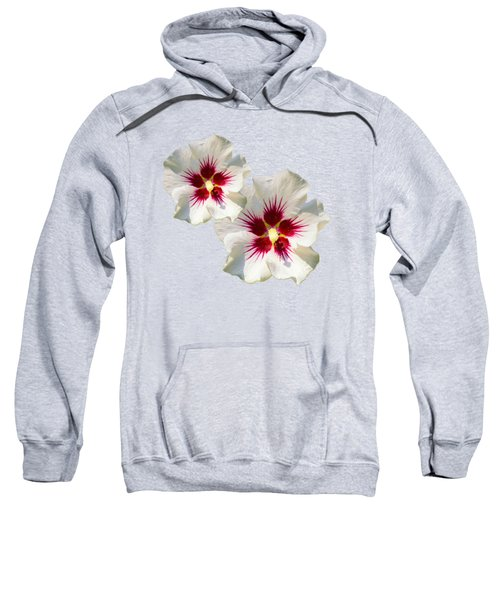 Sweatshirt featuring the mixed media Hibiscus Flower Pattern by Christina Rollo