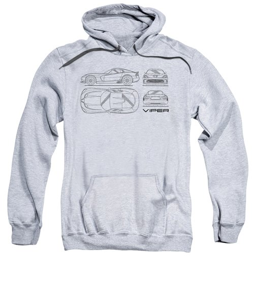 Srt Viper Blueprint Sweatshirt by Mark Rogan