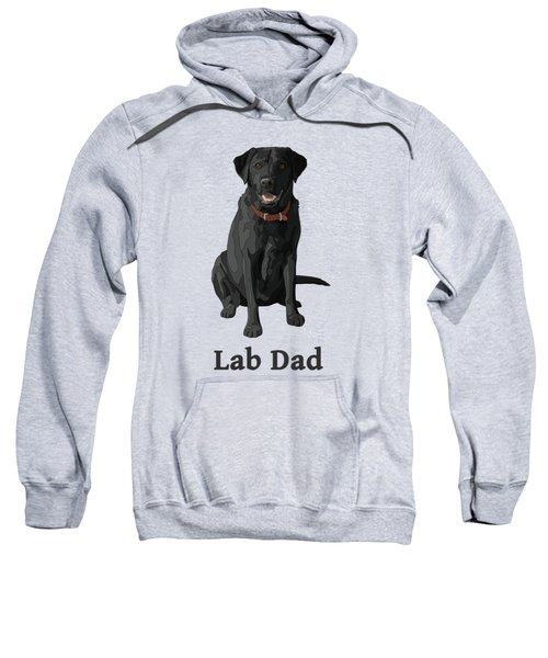 Black Labrador Retriever Lab Dad Sweatshirt by Crista Forest