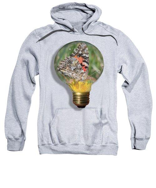Butterfly In Lightbulb Sweatshirt