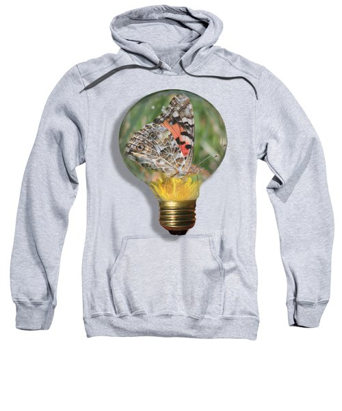 Butterfly In Lightbulb Sweatshirt