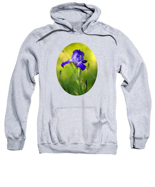 Violet Iris Sweatshirt by Christina Rollo
