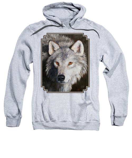 Wolf Portrait Sweatshirt by Crista Forest