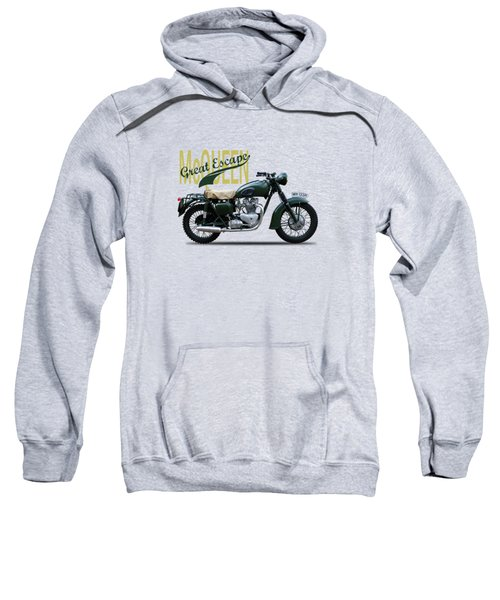 The Great Escape Motorcycle Sweatshirt by Mark Rogan
