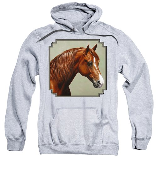 Morgan Horse - Flame Sweatshirt by Crista Forest