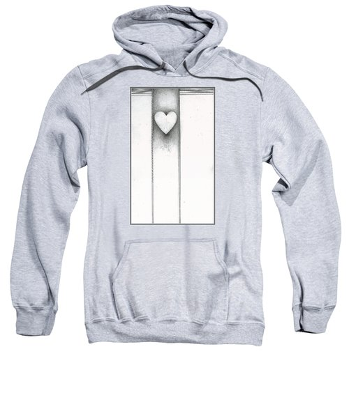 Sweatshirt featuring the drawing Ascending Heart by James Lanigan Thompson MFA