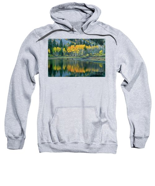 Aspens In Fall Color Along Lundy Lake Eastern Sierras California Sweatshirt